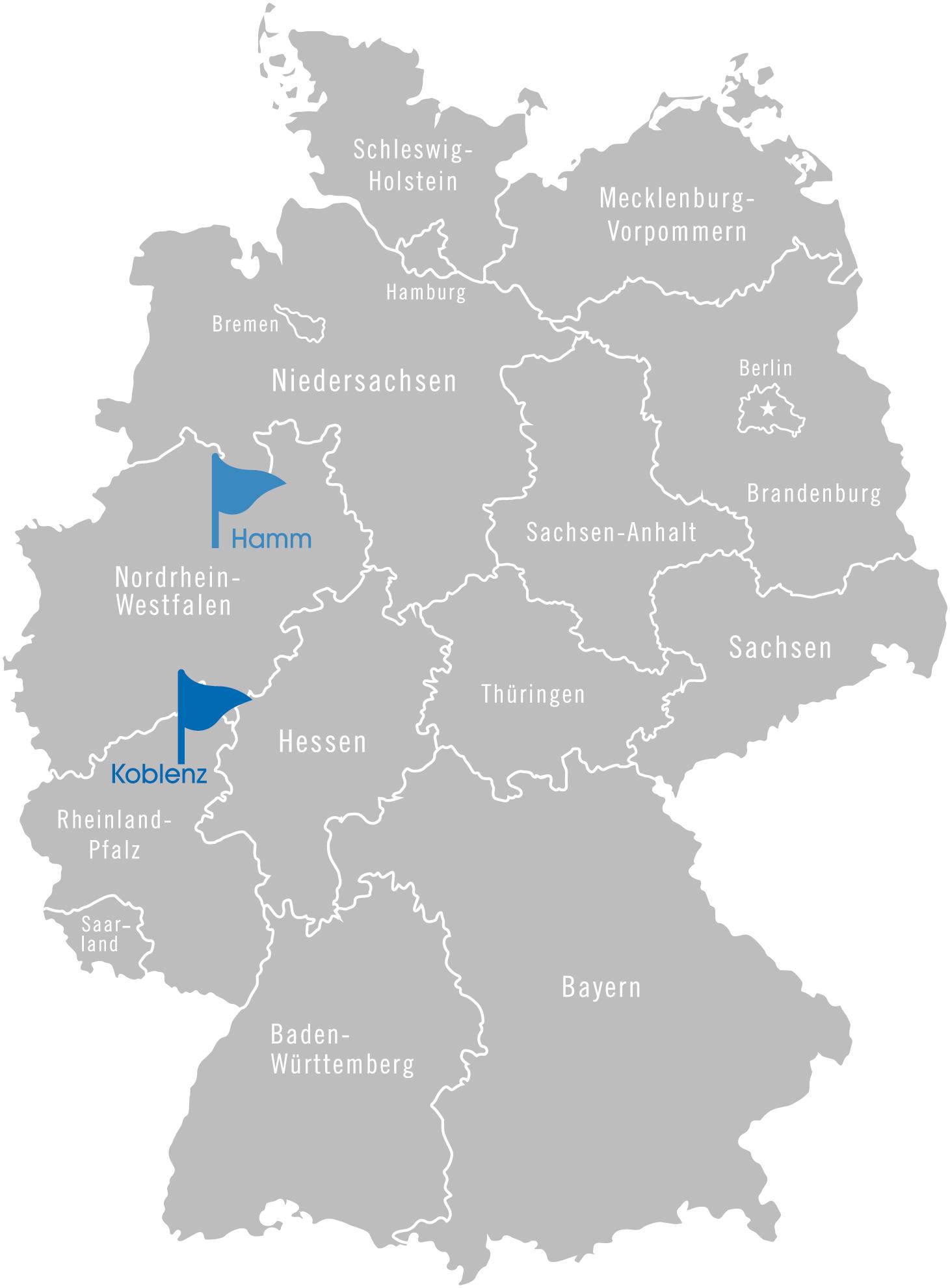 deutschlandkarte - Kontakt
